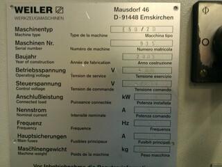 Drehmaschine Weiler E 50 D2 x 2000-3