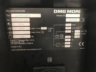 DMG Mori ecoMill 600V, Fräsmaschine Bj.  2016-3