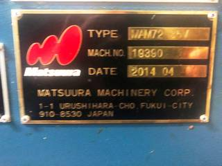 Matsuura MAM 72 35V, Fräsmaschine Bj.  2014-9